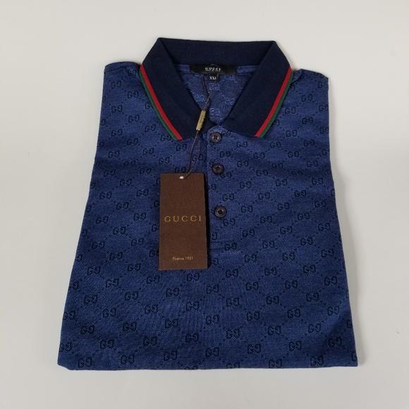 eed2205c Gucci Blue Monogram Polo Boutique